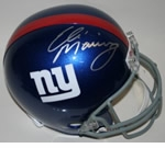 New York Giants Autographed Football Gear