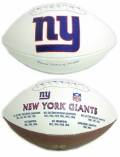 New York Giants Embroidered Autograph Signature Series Football