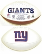 New York Giants Fotoball Embroidered Signature Full Size Football Super Bowl 21, 25, 42, 46 Logos