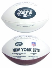 New York Jets Embroidered Autograph Signature Series Football