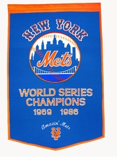 New York Mets 24x36 Wool Dynasty Banner