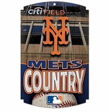 New York Mets Wood Sign