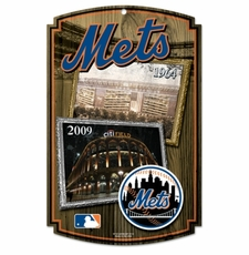 New York Mets Wood Sign - Stadium