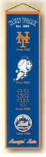 New York Mets Wool 8x32 Heritage Banner