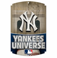 New York Yankees Wood Sign