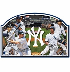 New York Yankees Wood Sign - Players Design