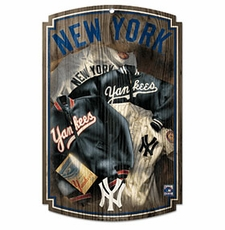 New York Yankees Wood Sign w/ Throwback 1952 Jersey