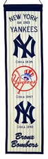 New York Yankees Wool 8x32 Heritage Banner