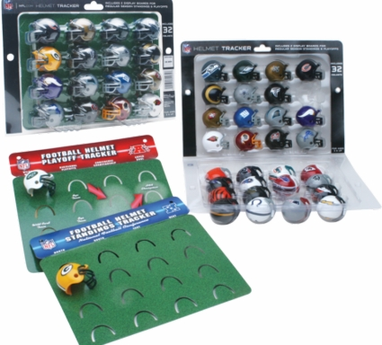 NFL 32 Team Helmet Tracker Pocket Pro Set