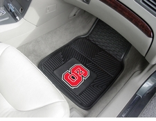 North Carolina State Wolfpack 2-Piece Heavy Duty Vinyl Car Mat Set