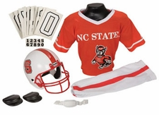 North Carolina State Wolfpack Deluxe Youth / Kids Football Helmet Uniform Set