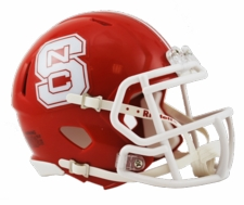 North Carolina State Wolfpack Red Riddell Speed Mini Helmet