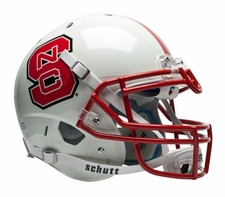 North Carolina State Wolfpack White Schutt XP Authentic Helmet