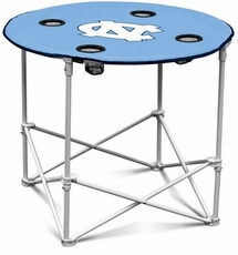 North Carolina Tar Heels Round Tailgate Table