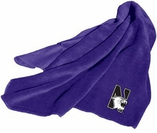 Northwestern Wildcats Fleece Throw