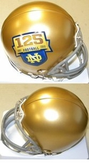Notre Dame Fighting Irish 125 Anniversary Riddell Replica Mini Helmet