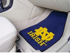 Notre Dame Fighting Irish 2-Piece Carpeted Car Mats Front Set
