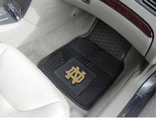 Notre Dame Fighting Irish 2-Piece Heavy Duty Vinyl Car Mat Set