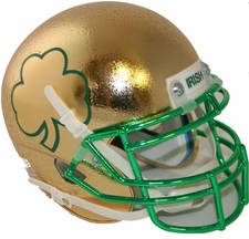 Notre Dame Fighting Irish 2013 Shamrock Series Schutt Authentic Mini Helmet