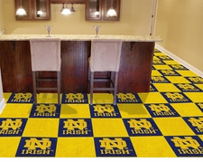 Notre Dame Fighting Irish Carpet Tiles - 20 18x18 Square Tiles