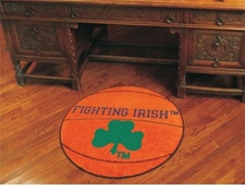 "Notre Dame Fighting Irish Clover 27"" Basketball Floor Mat"