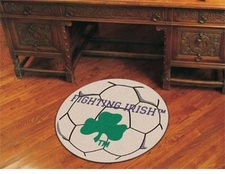 "Notre Dame Fighting Irish Clover 27"" Soccer Ball Floor Mat"