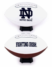 Notre Dame Fighting Irish Full Size Signature Embroidered Football