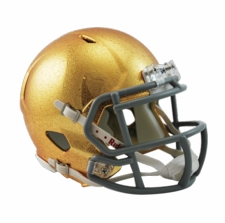 Notre Dame Fighting Irish Gold HydroFX Riddell Speed Mini Helmet