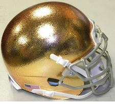 Notre Dame Fighting Irish Gold HydroFX Schutt XP Authentic Mini Helmet