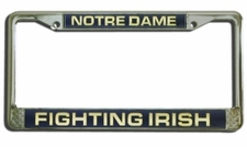 Notre Dame Fighting Irish Laser Cut Chrome License Plate Frame