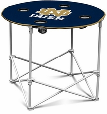 Notre Dame Fighting Irish Round Tailgate Table