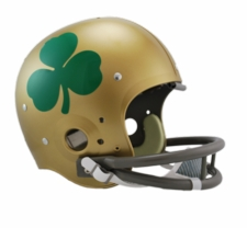 Notre Dame Fighting Irish Shamrock Riddell NCAA TK 2-Bar Suspension Throwback Full Size Helmet
