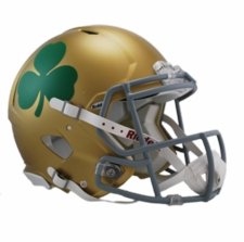 Notre Dame Fighting Irish Shamrock Riddell Revolution Speed Authentic Helmet
