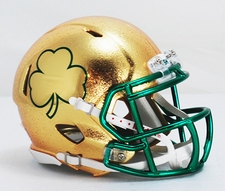 Notre Dame Fighting Irish Texas Shamrock HydroFX Riddell Speed Mini Helmet
