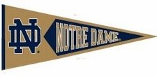 Notre Dame Fighting Irish Traditions Wool Pennant