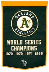Oakland Athletics 24x36 Wool Dynasty Banner