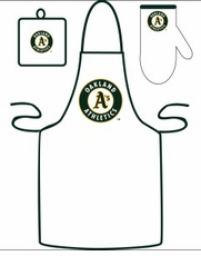 Oakland Athletics Cooking / Grilling Apron Set