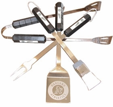 Oakland Athletics Grill BBQ Utensil Set