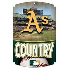 Oakland Athletics Wood Sign