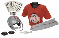 Ohio State Buckeyes Deluxe Youth / Kids Football Helmet Uniform Set