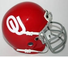 Oklahoma Sooners 1966 Schutt Throwback Mini Helmet