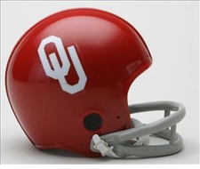 Oklahoma Sooners 1967-76 Throwback Replica Mini Helmet