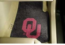 Oklahoma Sooners 2-Piece Carpeted Car Mats Front Set