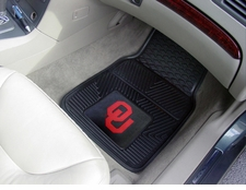 Oklahoma Sooners 2-Piece Heavy Duty Vinyl Car Mat Set