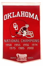 Oklahoma Sooners 24 x 36 Football Dynasty Wool Banner