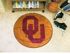 "Oklahoma Sooners 27"" Basketball Floor Mat"