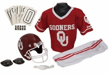 Oklahoma Sooners Deluxe Youth / Kids Football Helmet Uniform Set