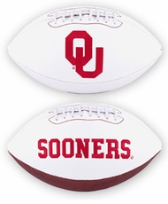 Oklahoma Sooners Full Size Signature Embroidered Football