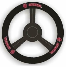 Oklahoma Sooners Leather Steering Wheel Cover