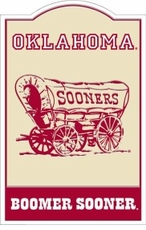 Oklahoma Sooners Nostalgic Metal Sign